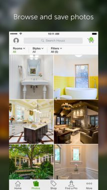 houzz, application déco, déco techno