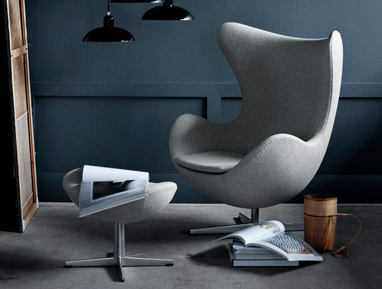 Fauteuil Egg par Arne Jacobsen, scandinave, design, deco, salon